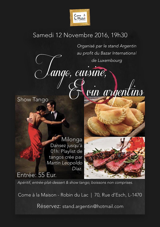 Tango cuisine & Vin Argentins