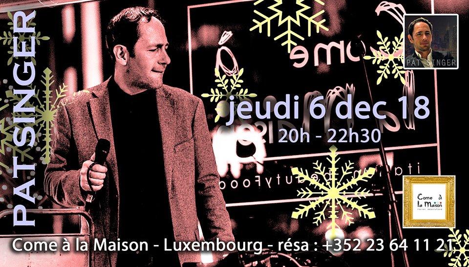 Pat Singer – Dîner Concert – Special Christmas Songs